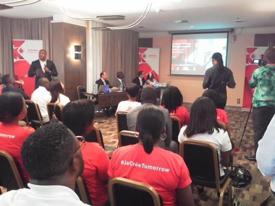 Lors de la conférence de presse du lancement des activités de Vodafone au Cameroun
