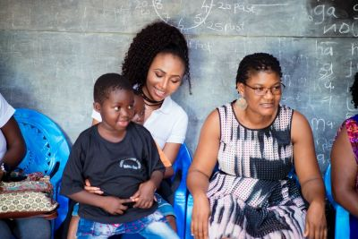 Syndy Emade celebrates end of the year with children at orphanage