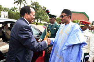 Paul Biya en visite au Nigeria