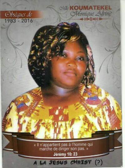 Obsèques de Monique Koumatékel