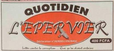 Le journal 'L'épervier' suspendu pour six mois