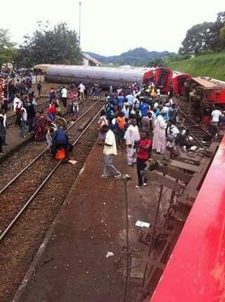 Packed passenger train derails in Eseka