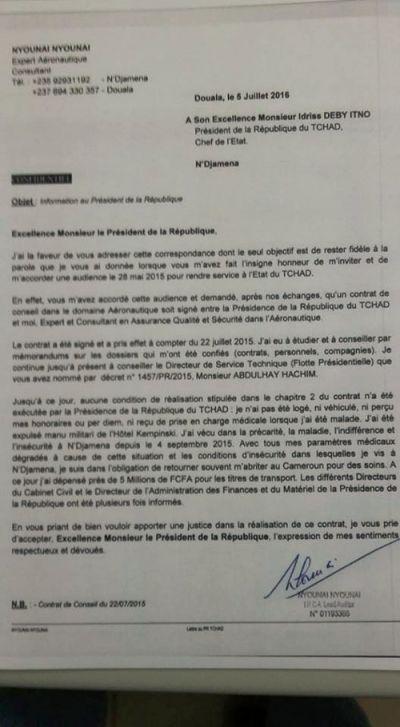 Un Camerounais réclame son salaire à Idriss Deby