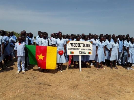 Des élèves du Lycée de Tourou